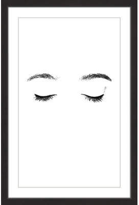 Wayfair Lashes And Brows Framed Painting Print