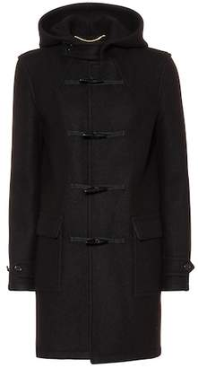 Saint Laurent Hooded wool toggle coat