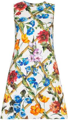Dolce & Gabbana Floral printed cotton drill dress