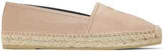 Saint Laurent Pink Leather Espadrilles