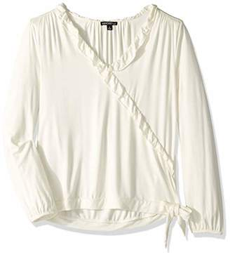 J.Crew Mercantile Women's Ruffle Trim Wrap Top,M
