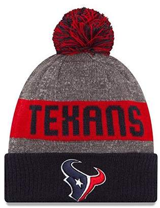 New Era Knit Houston Texans Biggest Fan Redux Sport Knit Winter Stocking Beanie Pom Hat Cap NFL