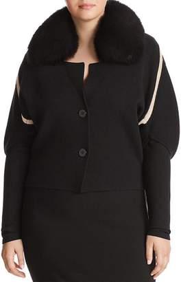 Marina Rinaldi Marilena Fur-Trimmed Jacket