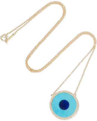 Jennifer Meyer - Evil Eye 18-karat Gold Multi-stone Necklace $3,550 thestylecure.com