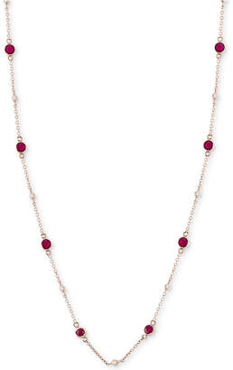 Effy Sapphire (1-3/8 ct. t.w.) & Diamond (1/8 ct. t.w.) Station Collar Necklace in 14k White Gold (Also Available in Ruby, Emerald & Tanzanite)