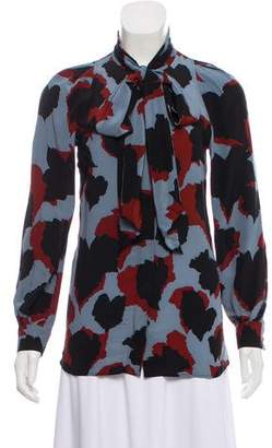 Gucci Sash-Accented Printed Blouse