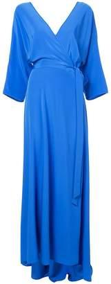 Diane von Furstenberg wrap front maxi dress