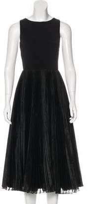 Alice + Olivia Pleated Midi Dress
