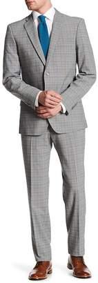 English Laundry Gray Windowpane Plaid Two Button Notch Lapel Suit $395 thestylecure.com