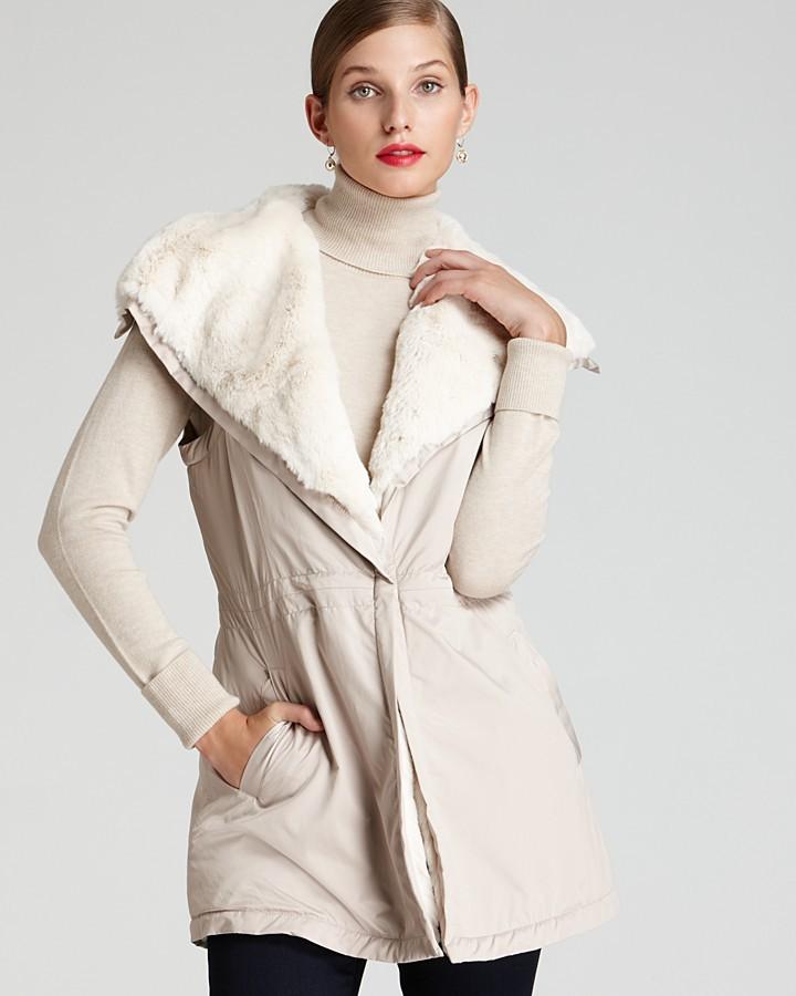 Lafayette 148 New York Ridley Faux Fur Lined Vest