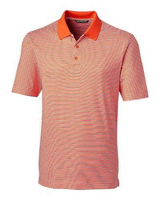 Cutter & Buck Men's Moisture Wicking UPF 50 Drytec Forge Tonal Stripe Polo Shirt