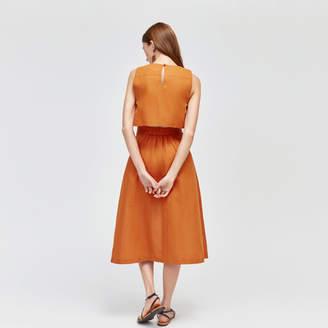 Warehouse Linen Open Back Dress