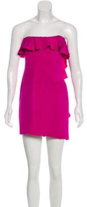 Jay Godfrey Silk Strapless Mini Dress