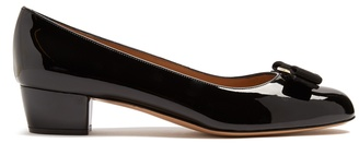 SALVATORE FERRAGAMO Vara patent-leather pumps $452 thestylecure.com