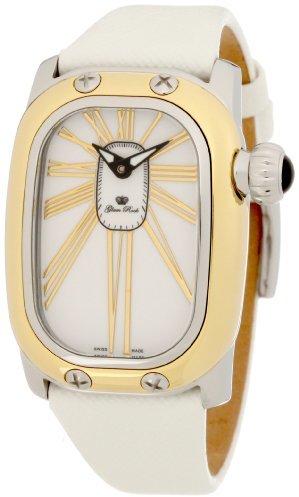 Glam Rock Women's GK2000 White Leather Watch