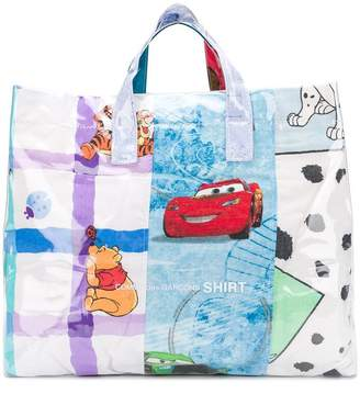 Comme des Garcons cartoon print shopper bag