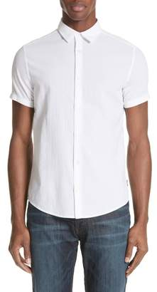Emporio Armani Regular Fit Short Sleeve Dress Shirt