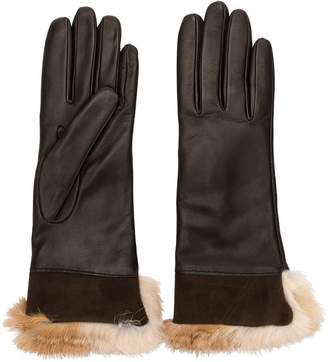Gala rabbit fur gloves