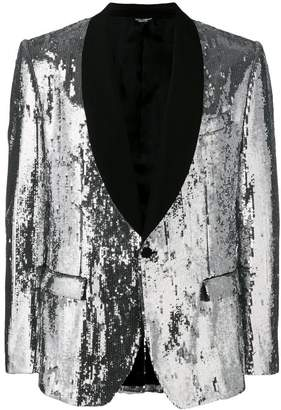 Dolce & Gabbana sequinned suit jacket