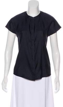 Black Fleece Sleeveless Silk Top