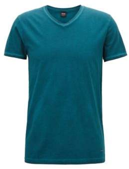 BOSS Hugo Regular-fit cotton T-shirt V-neckline XXXL Open Green