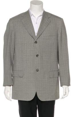 Isaia Plaid Super 140's Wool Blazer