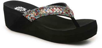 Yellow Box Everly Wedge Flip Flop - Women's