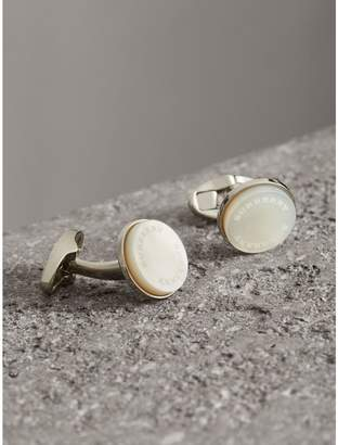 Burberry Mother-of-pearl Stone Round Cufflinks