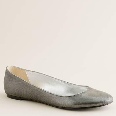 Shimmerveil leather ballet flats