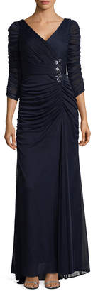 Adrianna Papell Women's Draped Gown
