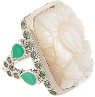 Stephen Dweck Solstice Silver Gemstone & Pearl Ring