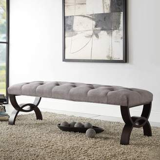 Homevance HomeVance Cambrie Tufted Linen Bench