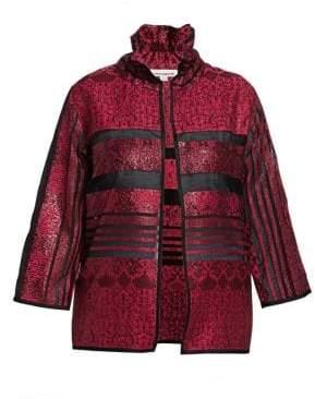 Caroline Rose Ruched Collar Jacket
