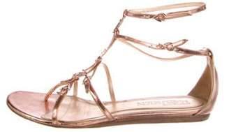 Alexander McQueen Metallic Leather Sandals metallic Metallic Leather Sandals