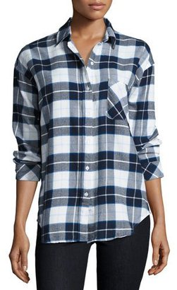 Rails Jackson Plaid Long-Sleeve Shirt, Blue/Black/White Check $148 thestylecure.com