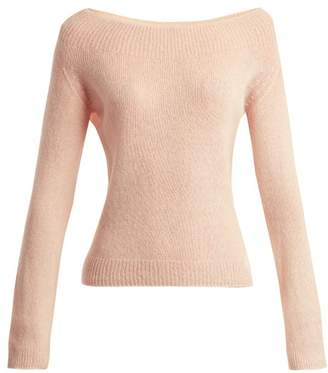 Brock Collection Kolbie Boat Neck Cashmere Blend Sweater - Womens - Light Pink