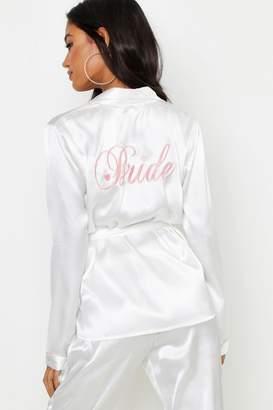 boohoo Bride Wrap Front PJ Set
