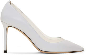 Jimmy Choo White and Transparent Romy 85 Heels