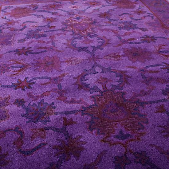Swatch Purple Overdyed Rug