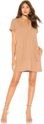 Bobi Slubbed Jersey Mini Dress