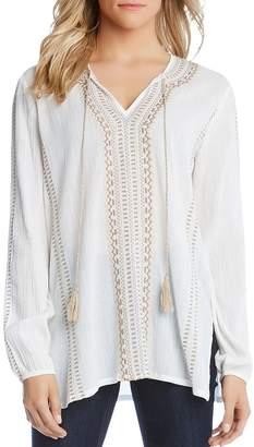 Karen Kane Embroidered Tunic Top