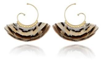 Women's Gas Bijoux 'Buzios' Feather Earrings $180 thestylecure.com
