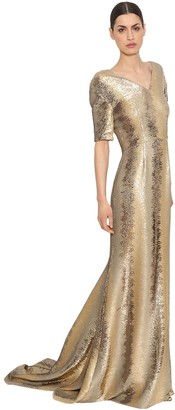 Ingie Paris SEQUINED TULLE LONG DRESS