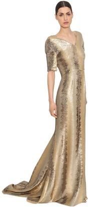 Ingie Paris Sequined Tulle Long Dress
