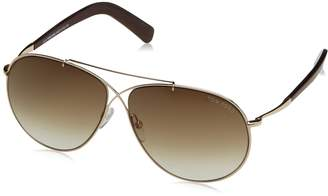 Tom Ford Eva Aviator Sunglasses in Shiny Rose Gold Gradient Brown FT0374 28F 61