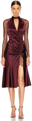 Jonathan Simkhai Lace Ruched Front Keyhole Dress in Sienna & Antique Rose | FWRD