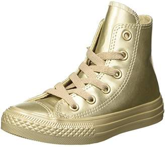 Converse Unisex Kids' CTAS Metallic Synth Leather Hi-Top Trainers,10.5UK Child