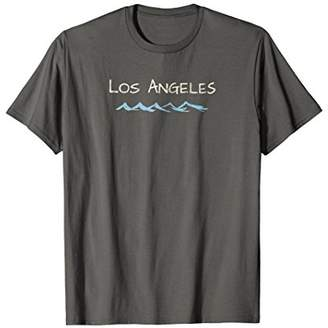 Vintage Los Angeles CA Souvenir Beach Waves Retro T shirt