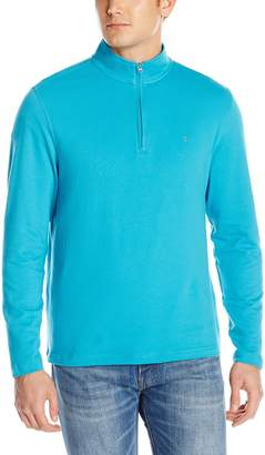 Izod Men's Long Sleeve Grande Isle Ottoman 1/4 Zip Solid Pullover