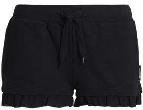 Just Cavalli Ruffle-Trimmed French Cotton-Blend Terry Pajama Shorts